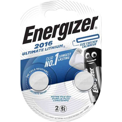PARISTO NAPPI LITH ENERGIZER ULTIMATE LITHIUM CR2016 2-PAK