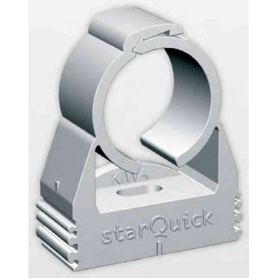 "BIS STARQUICK, 1"" GRAY PLASTIC LOCKING CLIP/CLAMP,"